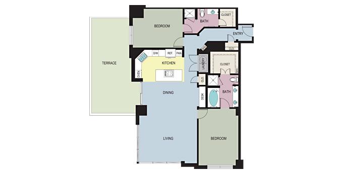 1,659 sq. ft. DC floor plan