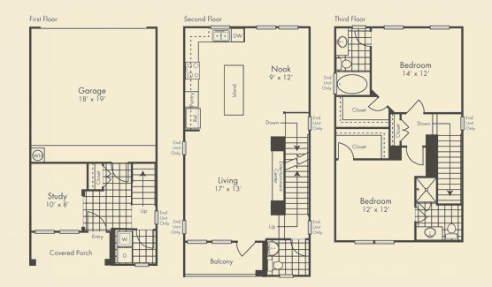 1,561 sq. ft. Grandhaven floor plan