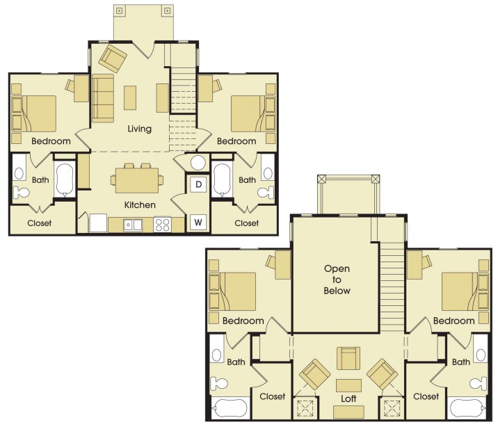 1,655 sq. ft. to 1,842 sq. ft. floor plan