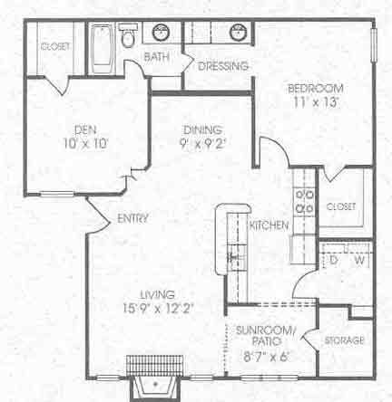 926 sq. ft. A4 floor plan