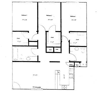987 sq. ft. 50%/80% floor plan