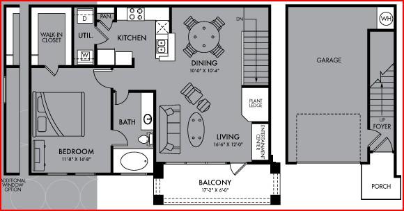 896 sq. ft. Celestia floor plan