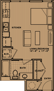 441 sq. ft. L1 floor plan