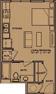 441 sq. ft. L1 floor plan