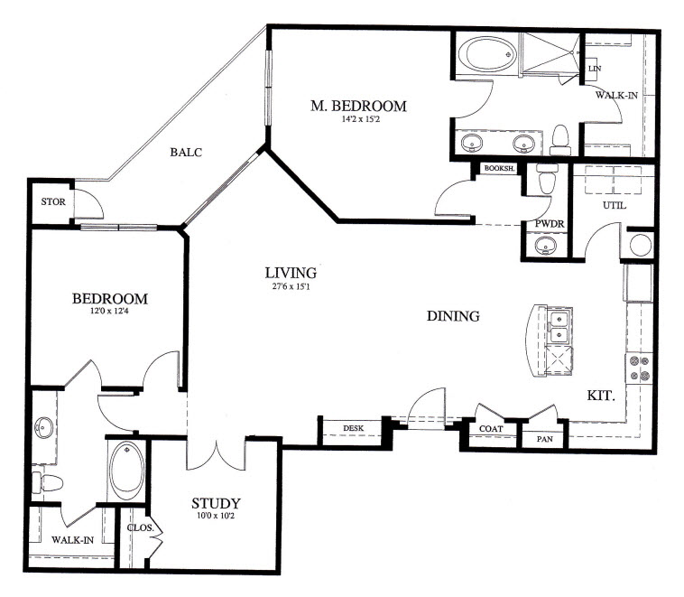 1,585 sq. ft. B5 floor plan