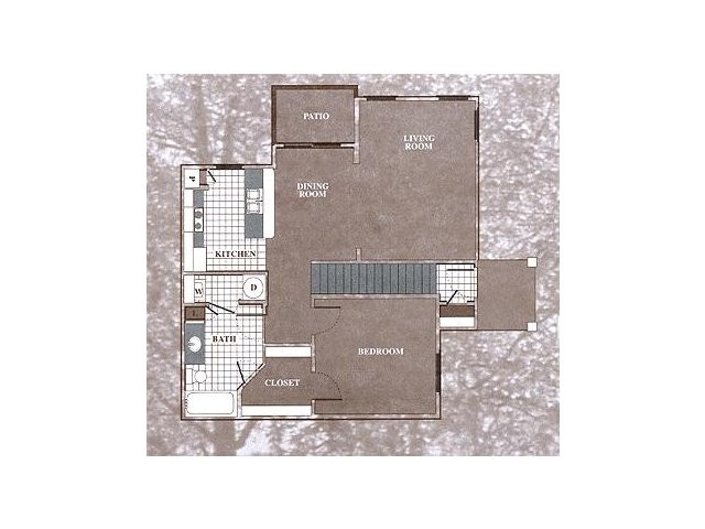 858 sq. ft. A4 floor plan