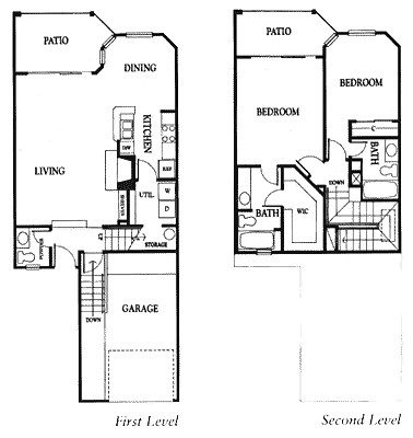 1,287 sq. ft. 2CG floor plan