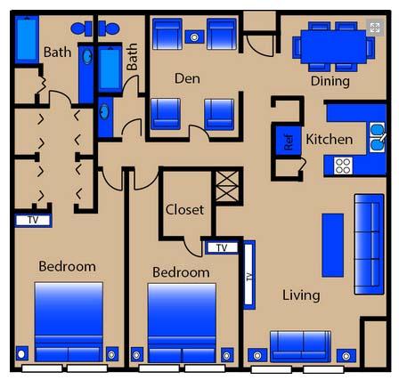 1,560 sq. ft. C3/C4 floor plan