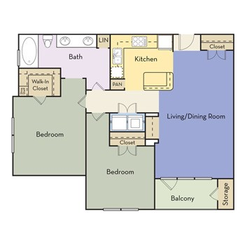 944 sq. ft. Princeton floor plan