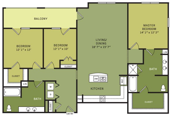1,576 sq. ft. C4 (II) floor plan