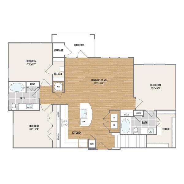 1,473 sq. ft. C1.1 floor plan