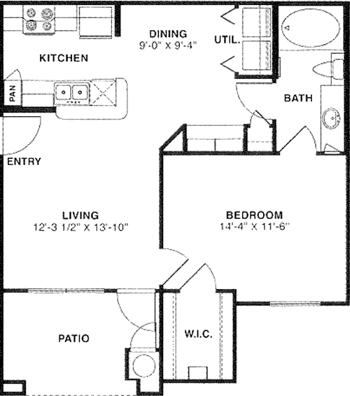 681 sq. ft. 50 floor plan
