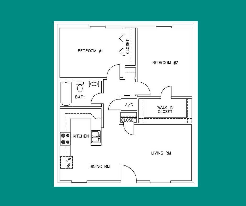 781 sq. ft. B1 floor plan