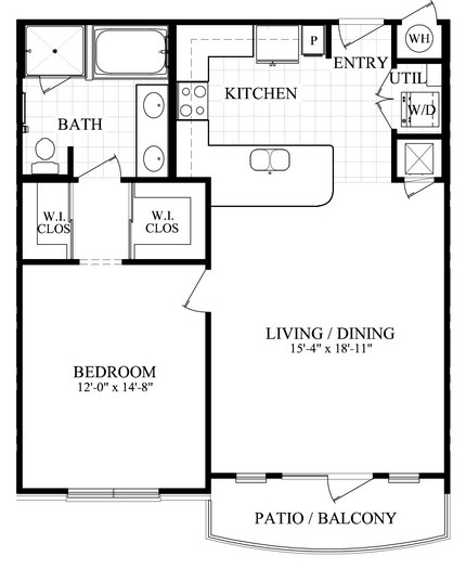 854 sq. ft. C floor plan