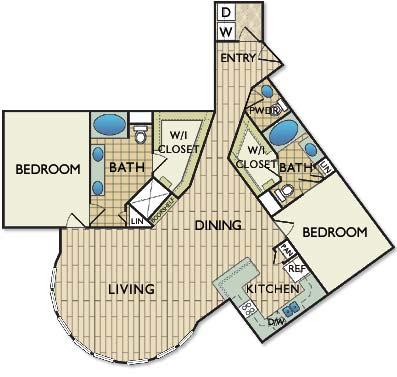 1,533 sq. ft. Rauschenberg floor plan