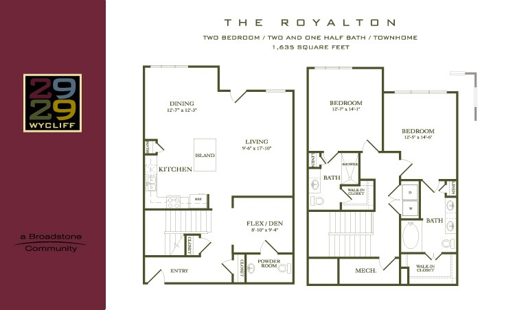 1,635 sq. ft. Royalton floor plan