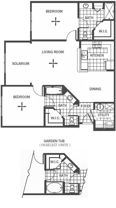 1,134 sq. ft. floor plan