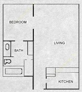 523 sq. ft. CABANA floor plan