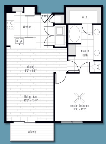 833 sq. ft. to 893 sq. ft. G floor plan
