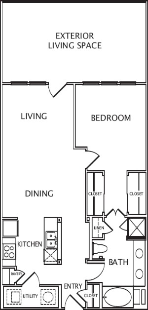 950 sq. ft. El Dora floor plan