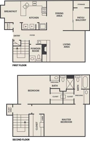 1,513 sq. ft. B-2 floor plan