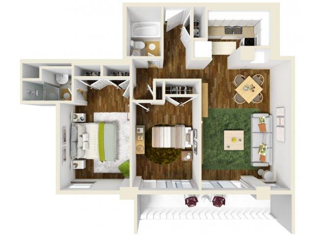 825 sq. ft. floor plan