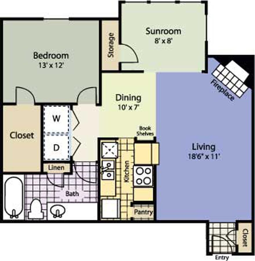 818 sq. ft. Magnolia floor plan