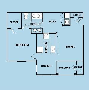 835 sq. ft. A25 GAR floor plan