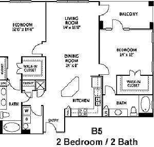 1,997 sq. ft. 2B5 floor plan