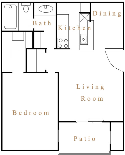 575 sq. ft. A4 floor plan