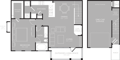 903 sq. ft. Louise floor plan