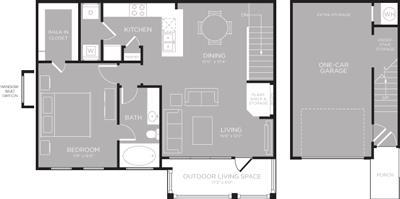 903 sq. ft. Louise floor plan