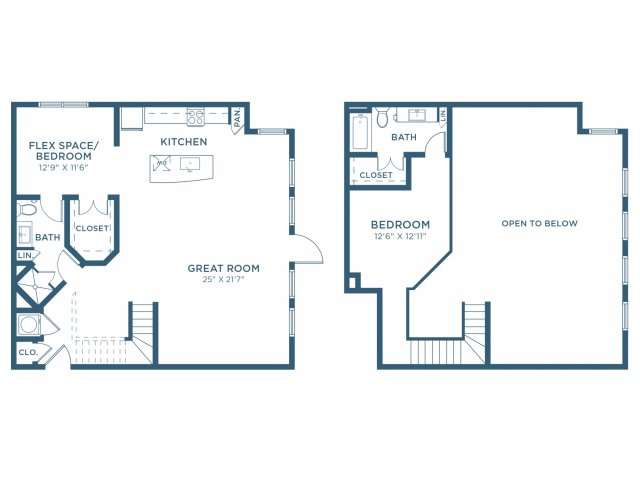 1,355 sq. ft. B14L floor plan