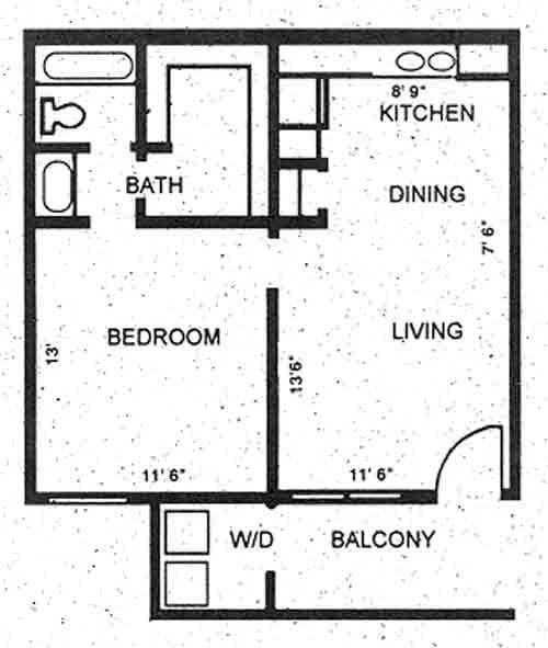 550 sq. ft. floor plan