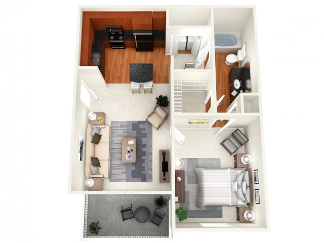 709 sq. ft. Athens floor plan