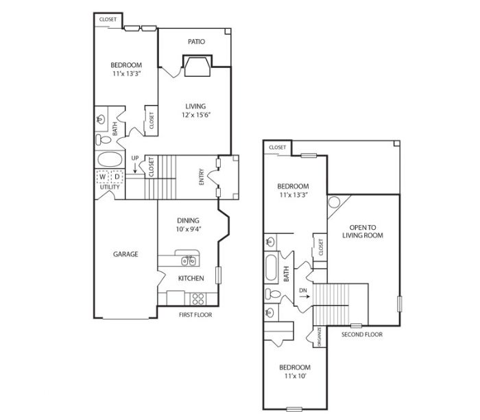 1,496 sq. ft. Greatwood floor plan