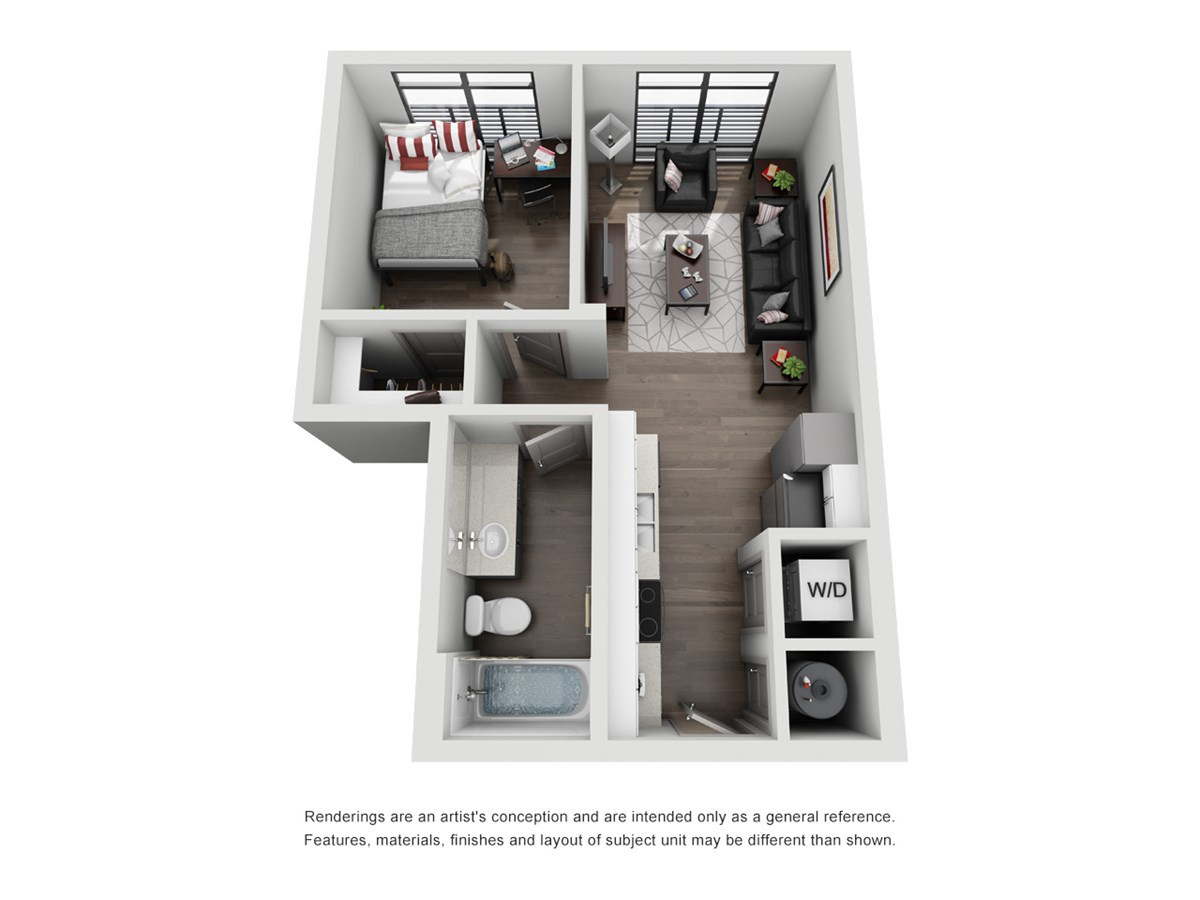522 sq. ft. A1-Lone Star floor plan