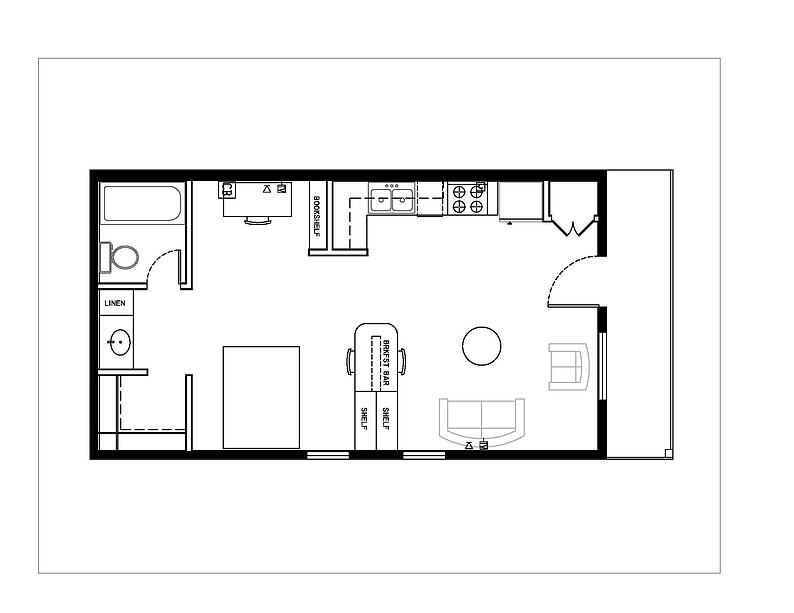 583 sq. ft. Type 8 floor plan