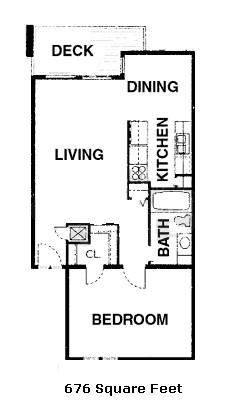 676 sq. ft. 50% floor plan