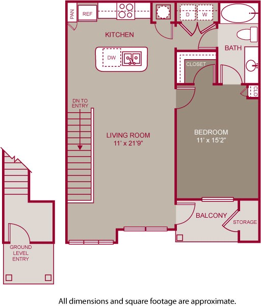 819 sq. ft. PURCELL II floor plan
