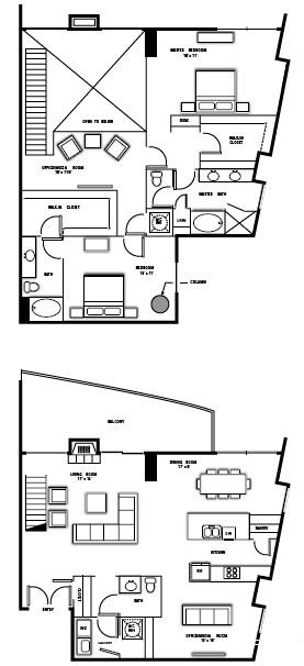 2,413 sq. ft. PH6 floor plan