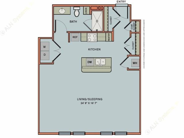 771 sq. ft. 3S3 floor plan