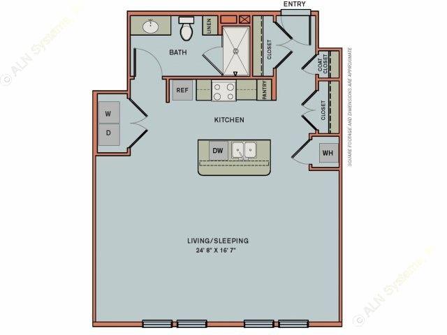 771 sq. ft. 3S3 floor plan