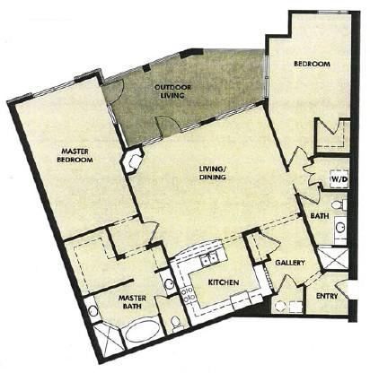 1,620 sq. ft. San Gabriel floor plan
