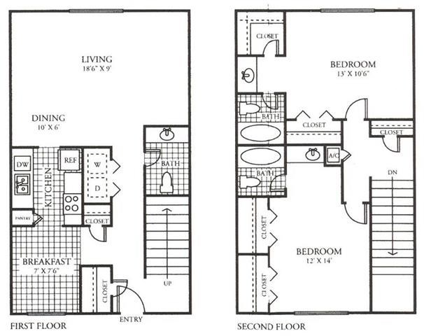 1,227 sq. ft. I floor plan