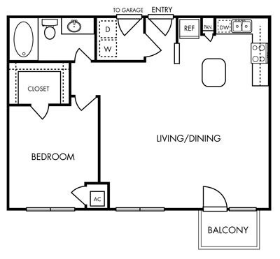 792 sq. ft. Jubilee floor plan