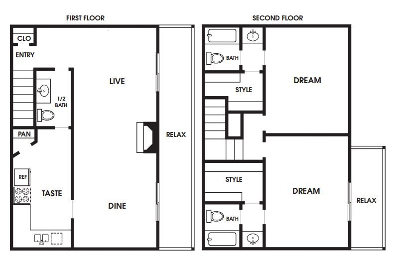1,380 sq. ft. to 1,522 sq. ft. B9/B10 floor plan
