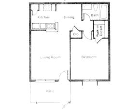 725 sq. ft. LA MOYNE floor plan