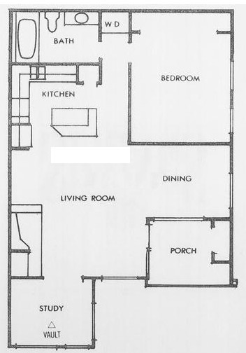804 sq. ft. K floor plan