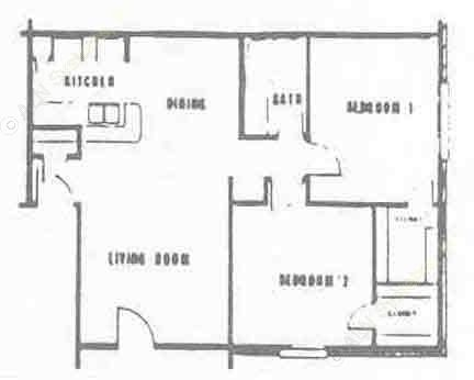 868 sq. ft. floor plan